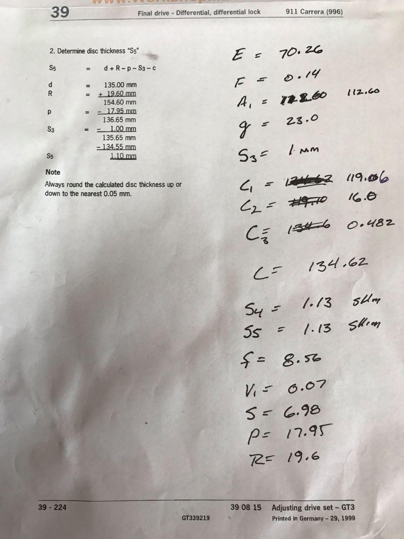 Porsche GT3 Transmission Math 101